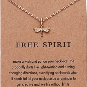 Jewelry - ⚡️2 for $15 Dragonfly Gold Color Dainty Necklace